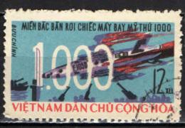 VIETNAM DEL NORD - 1966 - 1000 AEROPLANI AMERICANI ABBATTUTI - USATO - Vietnam
