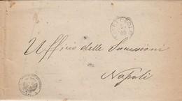 Lipari. 1889. Annullo Grande Cerchio LIPARI (ISOLA) + UFFICIO REGISTRO, Su Franchigia Con Testo. - 1878-00 Humbert I.