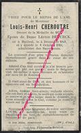 1913- Bailleul-(59) Décoré Guerre 1870-Louis CHEROUTRE ép Léonie Deturck Né 1849 - Décès