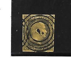 Pre075/ PREUSSEN - Mi.Nr. 4, Nr,.Stempel 7, Ahrweiler (Stempel + 10,00) - Pruisen