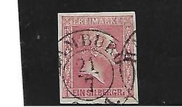 Pre076 PREUSSEN - Mi.Nr. 6b, Ortsstempel Hamburg - Pruisen