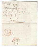 France Bavarie Bayern 1805 'DE PASSAU' LAC Avec Poste Civile Pour Paris, Campagne D'Austerlitz (s108) - Sellos De La Armada (antes De 1900)