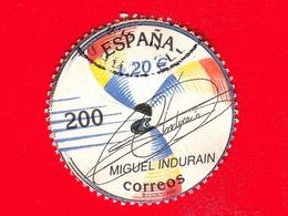 SPAGNA - Usato - 2000 - Mostra Filatelica España 2000 - Sport -  Miguel Indurain, Ciclista - 200 - 1931-Oggi: 2. Rep. - ... Juan Carlos I