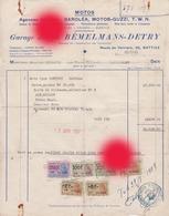 Battice ( Herve ) 1955 Vente D'une Moto CENTURY SAROLEA Par Le Garage JOSEPH BEMELMANS DETRY - Cars