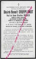 1932- Saint Jans Cappel-Désiré CRUYPLANDT  Conseil Municipal-syndicat Agricole-confrérie Du Saint Sacrement-ép ROUSEU - Décès