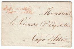 France Illyrie 1811 'Maitre Des Requetes Int.ce Gal Des Provinces D'Illyrie' En Rouge LAC De Laybach Pour Istrie (s112) - Marcophilie (Lettres)