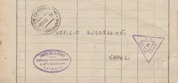 Trieste.1946. Annullo Guller + Ovale UFFICIO SUCCESSIONI E ATTI GIUDIZIARI, Su Modulo Ufficio Successioni, In Franchigia - 6. 1946-.. Republik