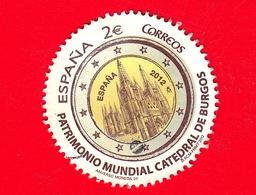 SPAGNA - Usato - 2012 - Cattedrale Di Burgos - Patrimonio Mondiale Dell'Umanità - Tondo - 2 - 2011-... Usati