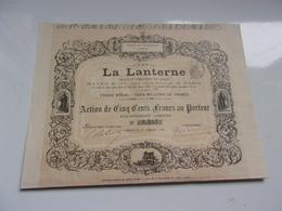 Journal  LA LANTERNE (1880) - Actions & Titres