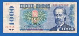 Tchecos  1000  Korun  1985 - Tchécoslovaquie
