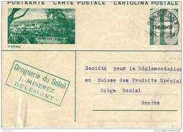 """71 - 65 - Entier Postal Avec Illustration """"Aarau"""" Cachet à Date Delémont 1932 - Entiers Postaux"""