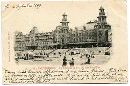 CPA - Carte Postale - Belgique - Blankenberghe - Le Kursaal Et L'Hôtel Des Familles - 1899 (B9144) - Blankenberge