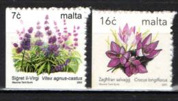 MALTA - 2003 - SERIE FIORI - AUTOADESIVI - Malta