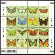 MALTA - 2002 - FARFALLE VARIOPINTE - BUTTERFLIES - FOGLIETTO - SOUVENIR SHEET - MNH - Malta
