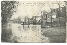 CPA INONDATIONS PARIS 1910 / NEUVE / L'AVENUE DE VERSAILLES AU PONT DE GRENELLE - La Crecida Del Sena De 1910