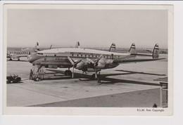 Vintage Rppc KLM K.L.M Royal Dutch Airlines Lockheed Constellation L-749 @ Schiphol Amsterdam Airport. - 1919-1938: Between Wars