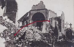 (62) - Monchy-le-Preux Reste Von Kirche   Carte Photo Allemande - Lens