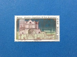 1999 ITALIA FRANCOBOLLO USATO STAMP USED BASILICA SAN FRANCESCO ASSISI - - 6. 1946-.. Repubblica