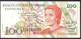 Brazil 100 Cruzados Novos 1989 AUNC - Brazil