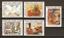 Comores 1981 - 100ème Anniversaire Naissance De Pablo Picasso - Série Complète MNH  - PA184/188 - Comores (1975-...)