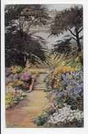 Ellen Warrington - Garden Scene - Tuck Oilette 3156 - Flowers, Plants & Trees