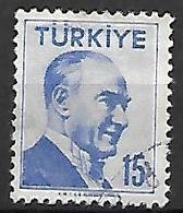 TURQUIE     -     1956 .   Y&T N° 1304 Oblitéré - 1921-... República