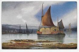 Sea And Sky - Tuck Oilette 9890 - Sailing Vessels