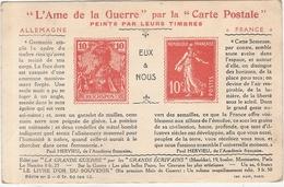 CPA L'Ame De La Guerre Par La Carte Postale Peints Par Leurs Timbres WW1 Guerre Militaria 1914 1915 1918 - Oorlog 1914-18