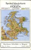Landkarten Cp Insel Rügen In Der Ostsee, Kurhaus Altefähr, Inh. E. Dinse, Wanderkarte - Deutschland