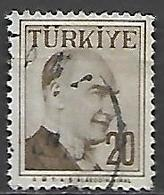 TURQUIE     -     1957 .   Y&T N° 1397 Oblitéré - 1921-... República