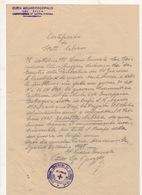 ^ VICARIO GENERALE RUGGERI CASTORINA CORFU' CURIA MARINA DI RAGUSA DOCUMENTO 54 - Vieux Papiers