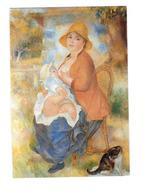 Grand Cpm - RENOIR - L'enfant Au Sein Ou Maternité - Femme Allaite Bébé - Chat Chapeau - Schilderijen