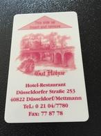 Hotelkarte Room Key Keycard Clef De Hotel Tarjeta Hotel GUT HÖHNE DÜSSELDORF METTMANN - Télécartes