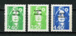 SPM MIQUELON 1993 N° 587/589 ** Neufs MNH Superbes C 5.80 € Marianne Du Bicentenaire - St.Pedro Y Miquelon