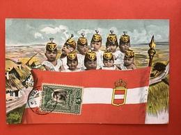 1906 - KINDSOLDATEN - ENFANTS SOLDATS - VLAG OOSTENRIJK - DRAPEAU AUTRICHE - Satiriques