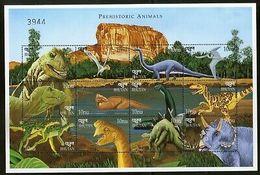 Bhutan 1999 Dinosaurs Prehistoric Animals Wildlife Sc 1218 Sheetlet MNH # 9374 - Bhutan