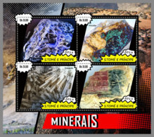 SAO TOME 2019 MNH Minerals Mineralien Mineraux M/S - OFFICIAL ISSUE - DH1925 - Minerali