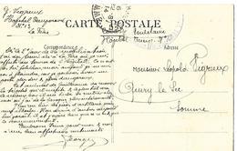 02-cachet De L'Hôpital Temp N°13 De La Fère Sur CP- Cachet Rare - Marcofilia (sobres)