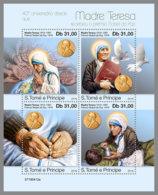 SAO TOME 2019 MNH Mother Teresa Nobel Prize Winner M/S - IMPERFORATED - DH1925 - Mère Teresa