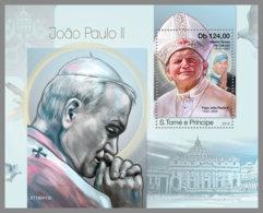 SAO TOME 2019 MNH Mother Teresa Pope John Paul II. S/S - IMPERFORATED - DH1925 - Mère Teresa