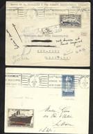 2 Enveloppes Voyage Inaugural  NORMANDIE . Le Havre New York 29/5/35 Et New York Le Havre 7/6/35 - Bateaux