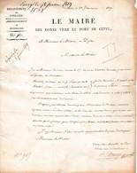 1819 - Le Maire Des Bonne Ville Et Port De CETTE -  Recrutement Pour L'Armée - Documents Historiques