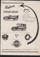 Publicité Papier 1913 Voitures  Automobile Traction Packard Aristocrate Américaine Levallois Perret - Advertising