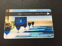 Hotelkarte Room Key Keycard Clef De Hotel Tarjeta Hotel  THE RITZ CARLTON JAKARTA - Telefonkarten