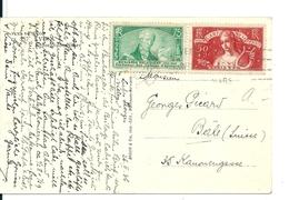 """Carte Lyon Avec N°308 """"Chômeurs Intellectuels"""" Et Caisse D'Epargne , 1936 , Cote: 60e - France"""