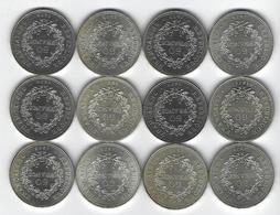 FRANCE HERCULE ARGENT 50 Francs X12 - France
