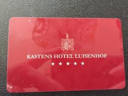 Hotelkarte Room Key Keycard Clef De Hotel Tarjeta Hotel KASTENS HOTEL LUISENHOF - Télécartes