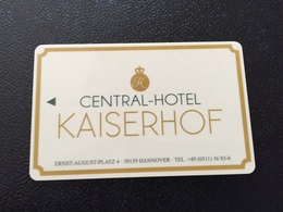 Hotelkarte Room Key Keycard Clef De Hotel Tarjeta Hotel CENTRAL KAISERHOF HANNOVER - Télécartes