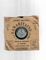 """Disque Ancien En Cire Pour Enfant à La Samaritaine """"Nous N'irons Plus Au Bois""""  Marche Lorraine - 78 Rpm - Schellackplatten"""