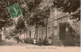 Cpa11 Haute-Vallée De L'Aude Carcanières-les-Bains (hameau Thermal De Carcanières-Escouloubre) Hôtel ESPARRE Très Animée - Frankreich